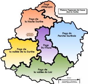 Carte Pays de Sarthe