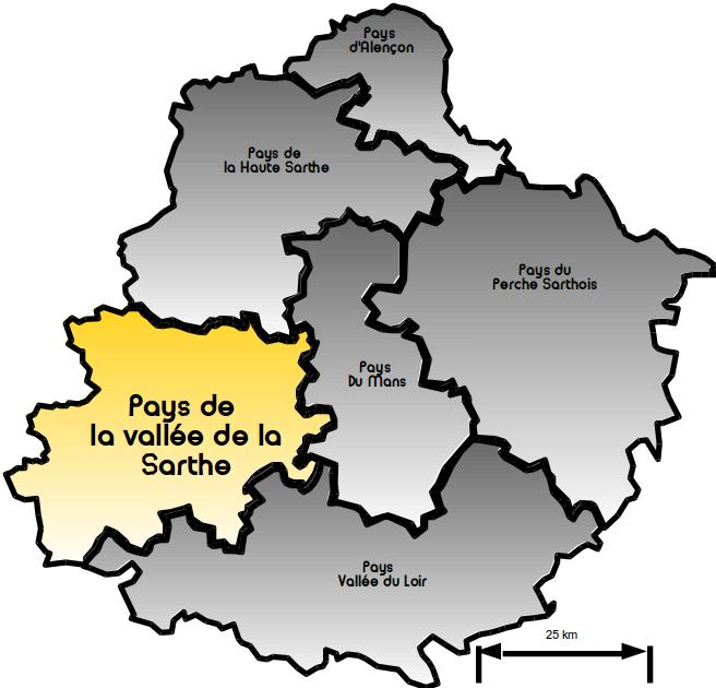 Carte Vallée Sarthe