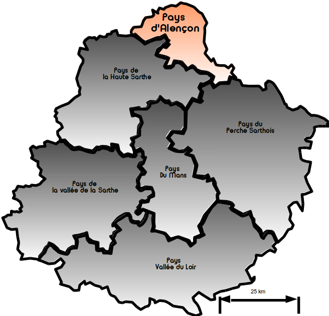 Carte pays Alençon