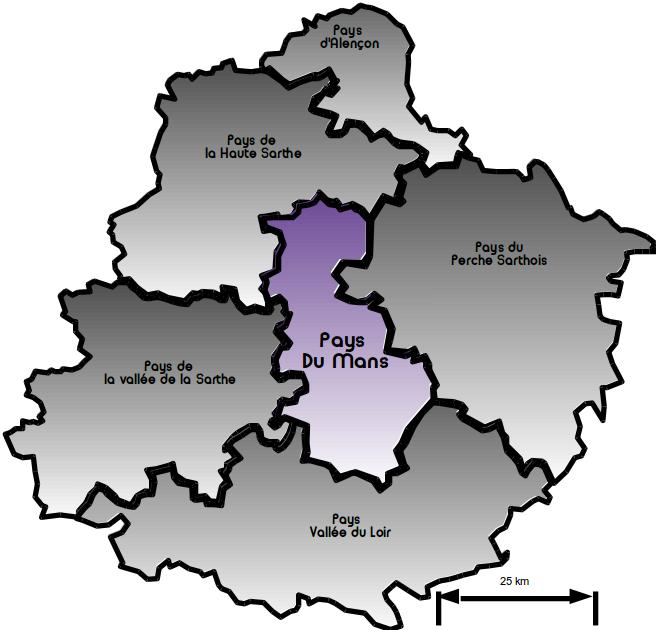 Carte pays du Mans