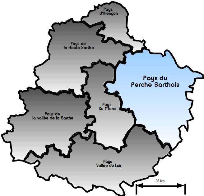 Carte pays perche sarthois